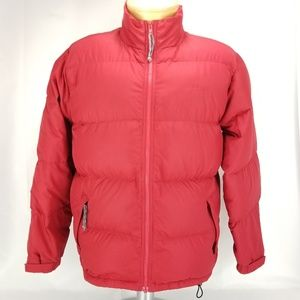 LL Bean Womens Regular L Large Red Winter Ski Coat